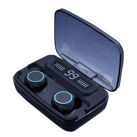 Audífonos inalámbricos táctiles 2000mah, con Powerbank para su teléfono